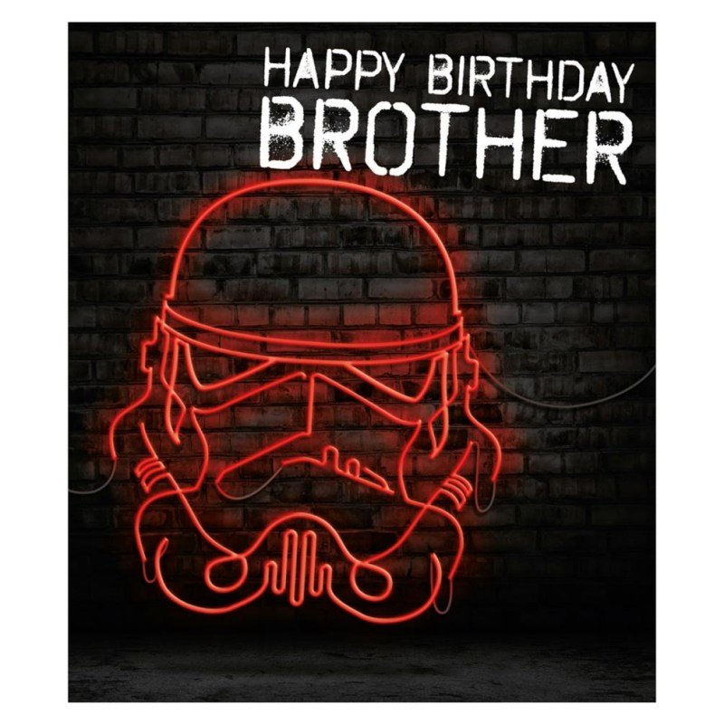 brother storm trooper star wars birthday card