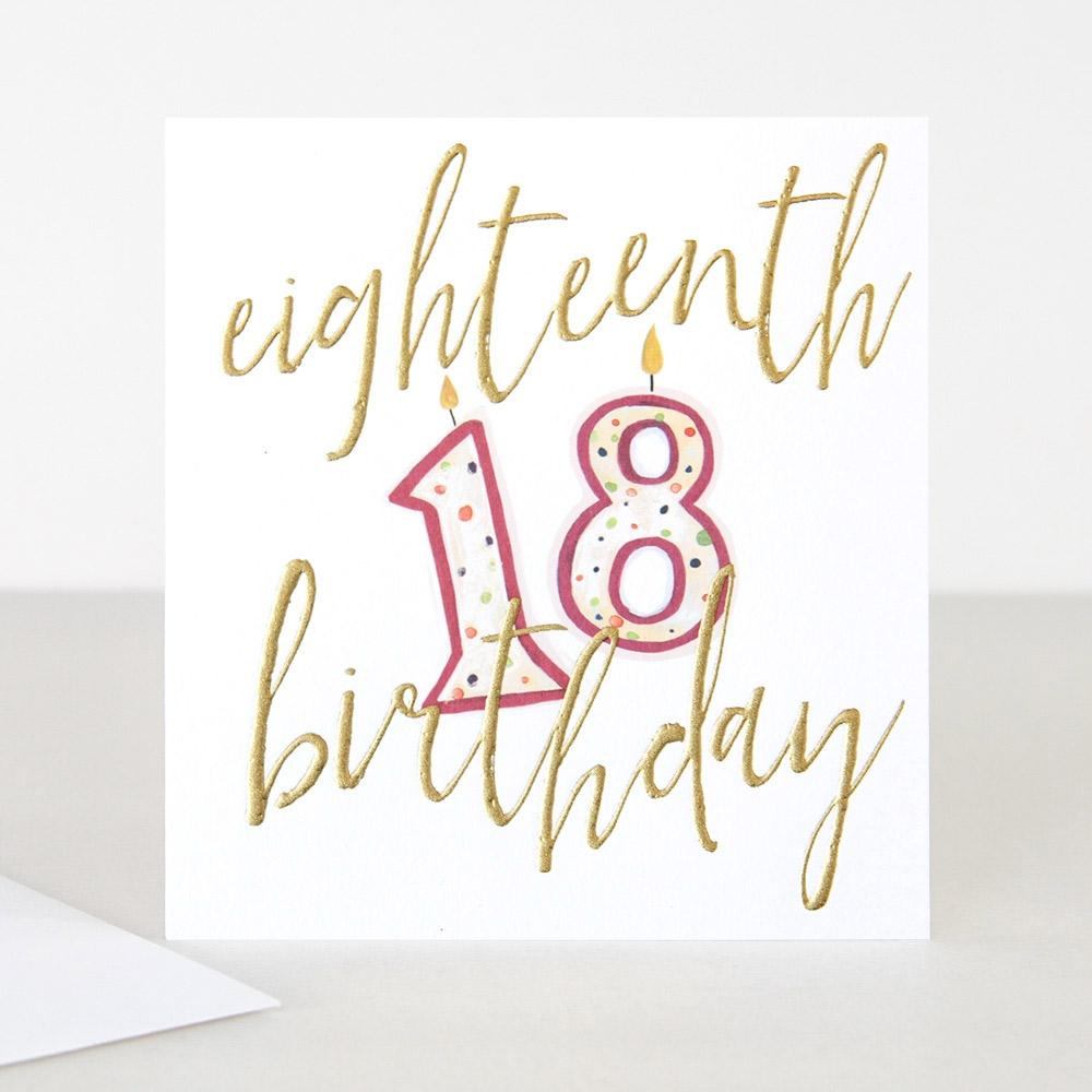 candles 18th birthday card