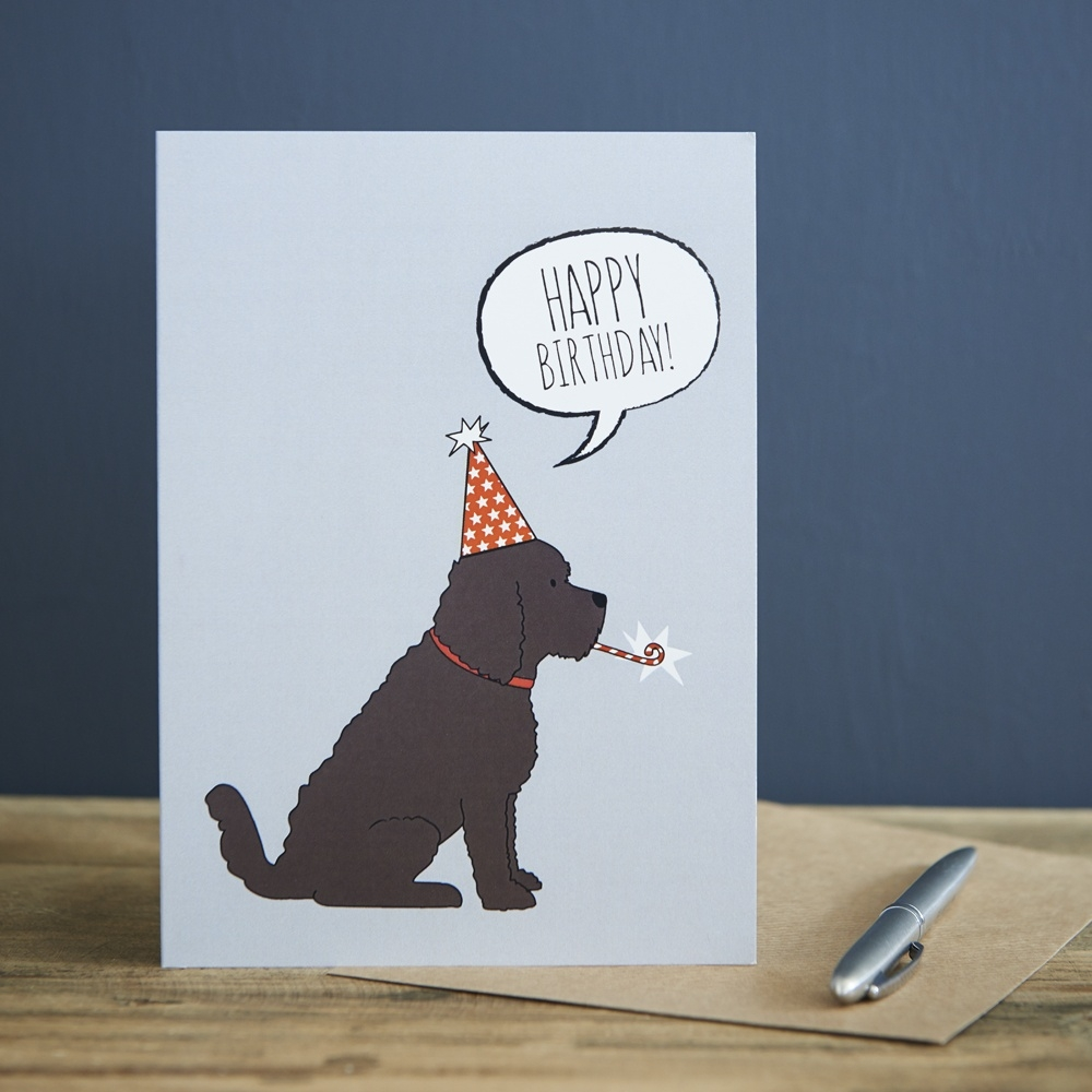 cockapoo birthday card from wwwsweetwilliamdesigns
