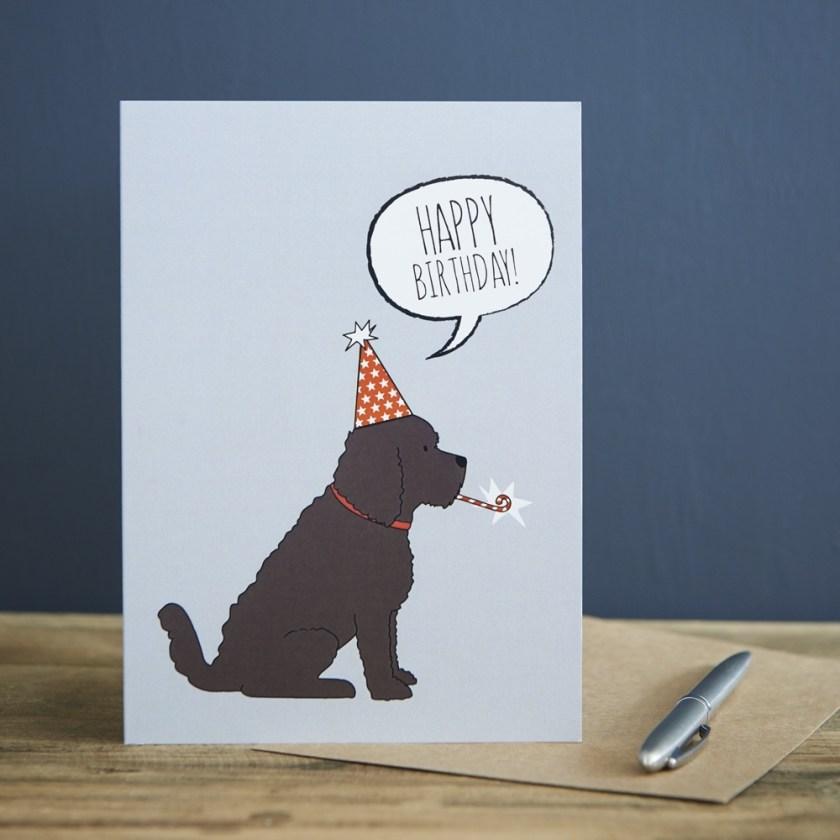 cockapoo birthday card from wwwsweetwilliamdesigns
