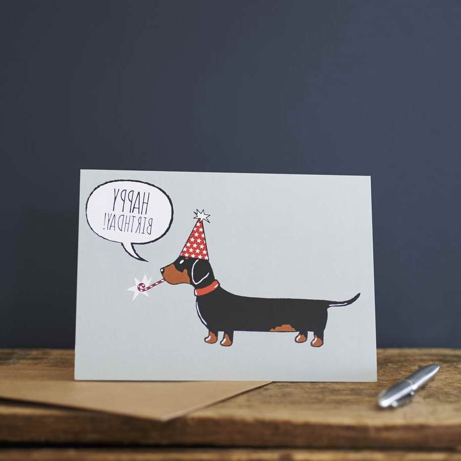 dachshund birthday card petsidi