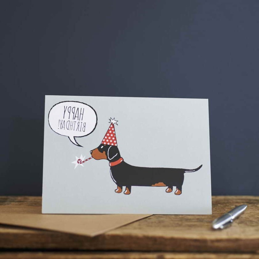 dachshund birthday card petsidi