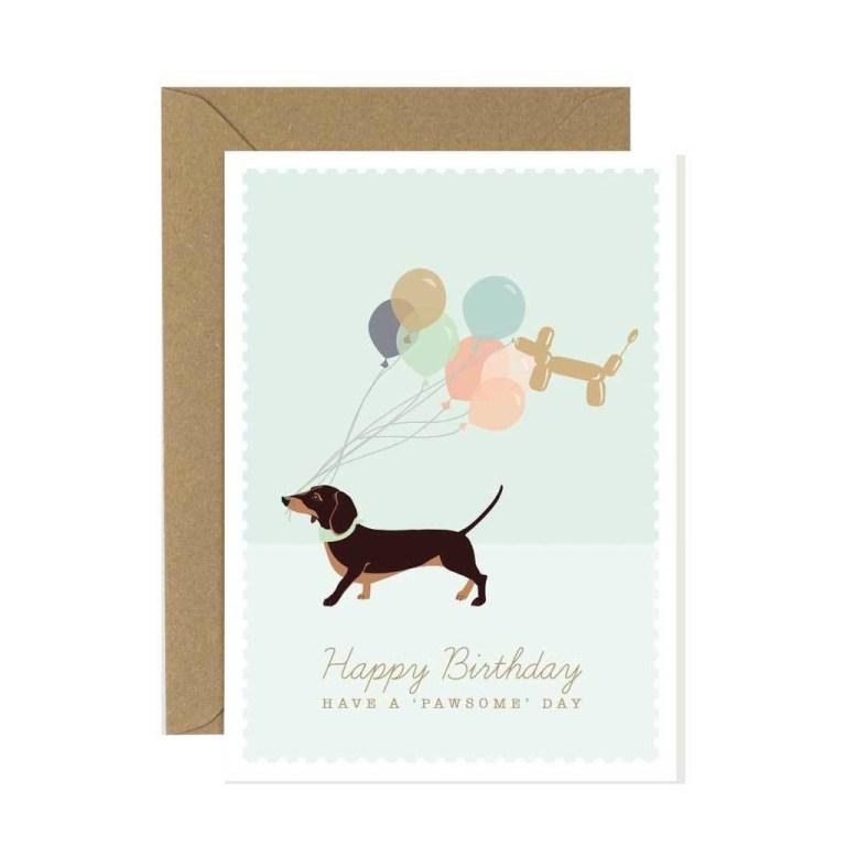 dachshund happy birthday card