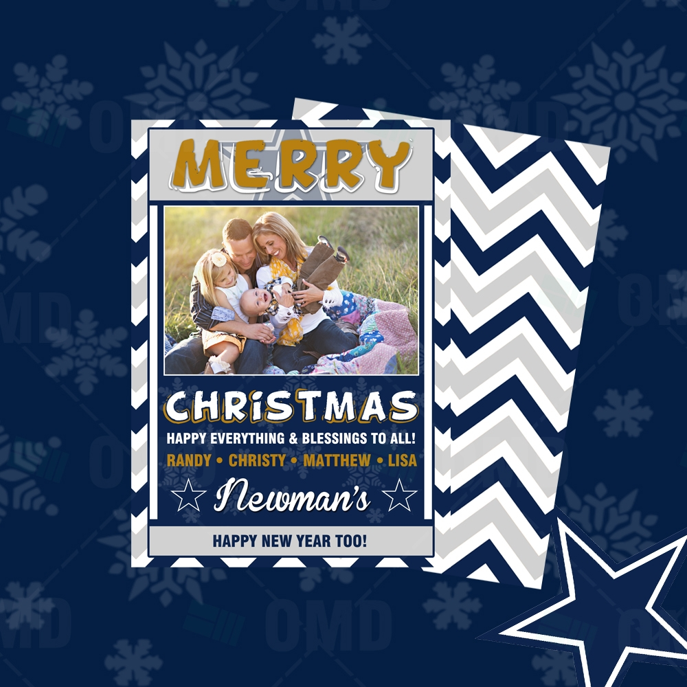 dallas cowboys merry christmas cards sports invites