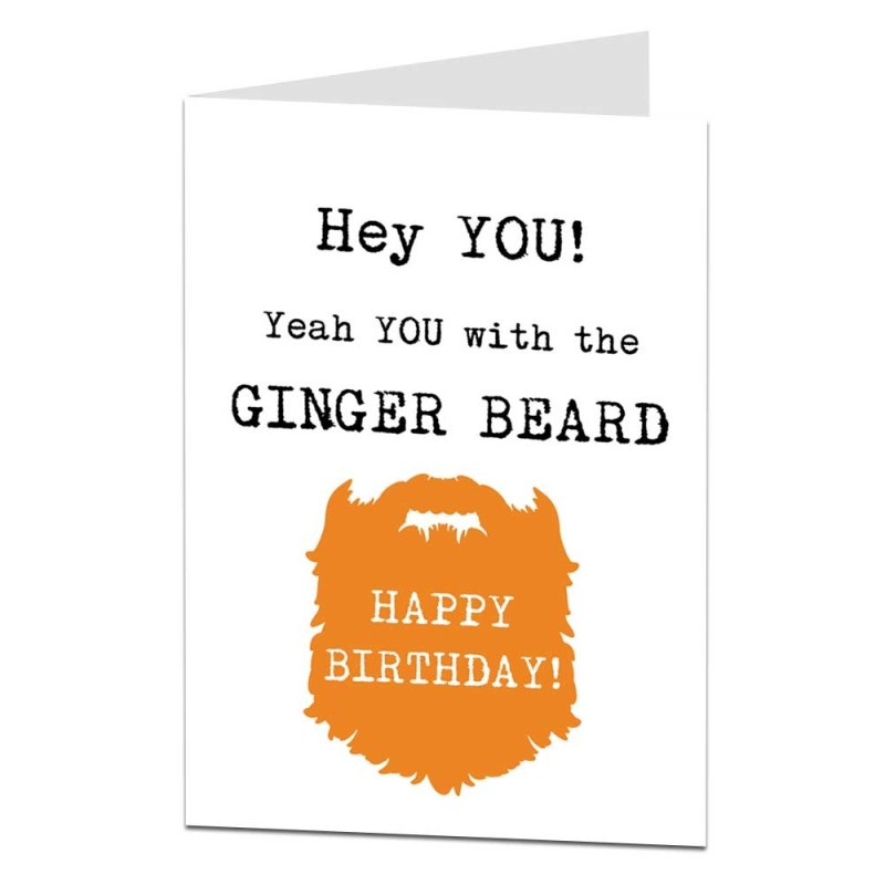 details about ginger beard birthday card funny dad husband boyfriend brother