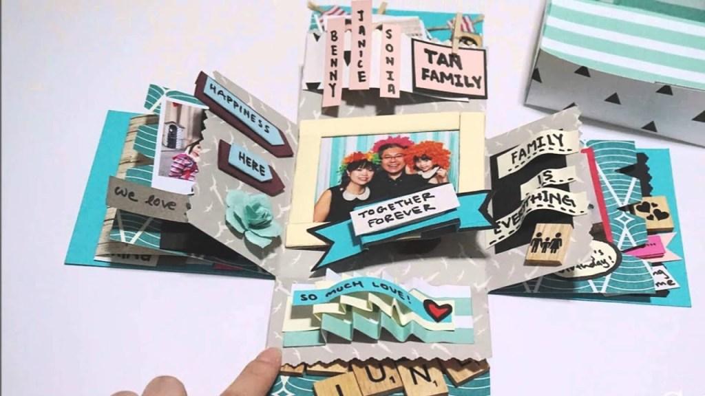 diy crafts birthday box card