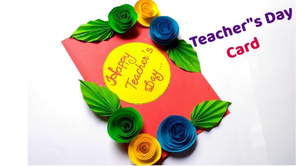 diy teachers day card handmade teachers day carddiy greeting card 2019