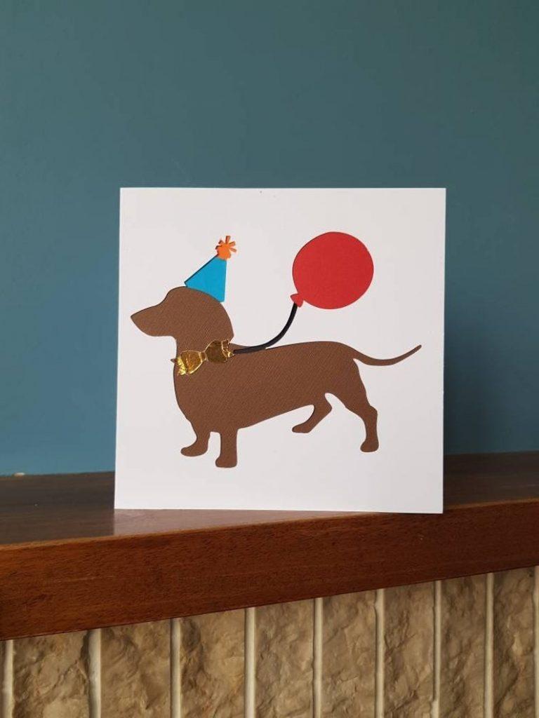 dog birthday card greetings card doggy dachschund dog doggy weiner dog sausage dog ideal for all dog lovers