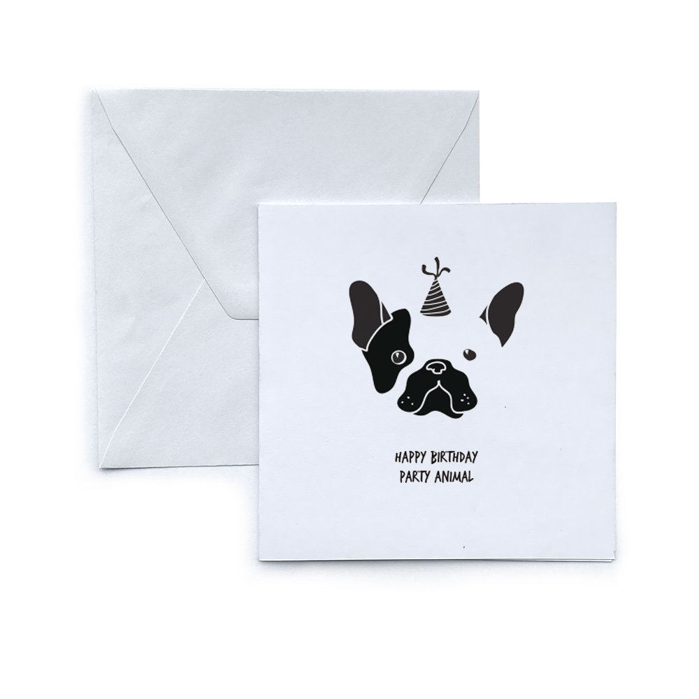 dog greeting card birthday party animal