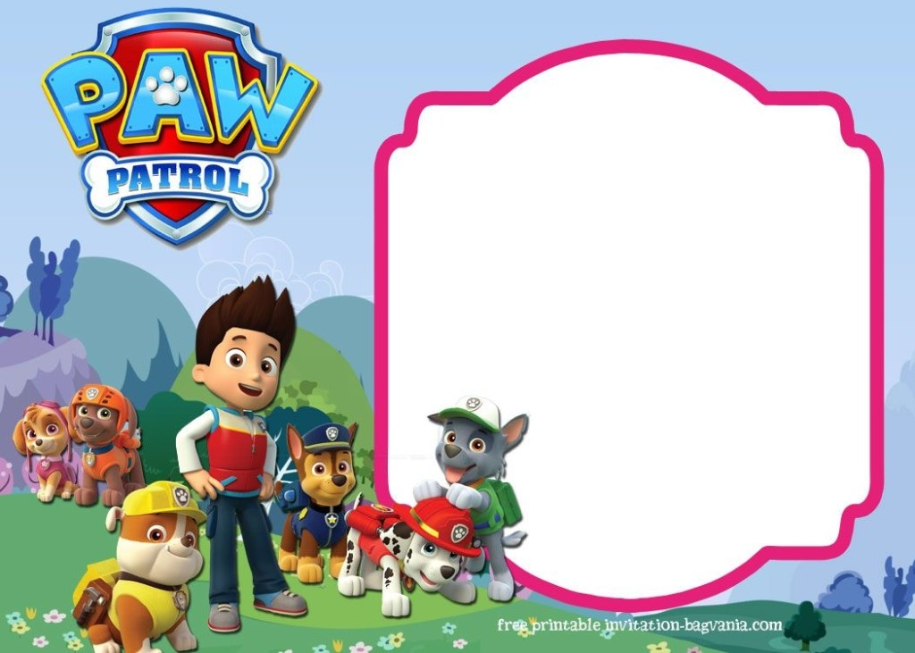 download paw patrol birthday invitation template most