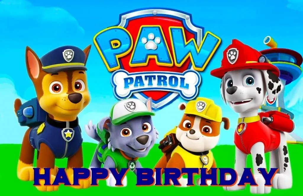free paw patrol birthday ecards