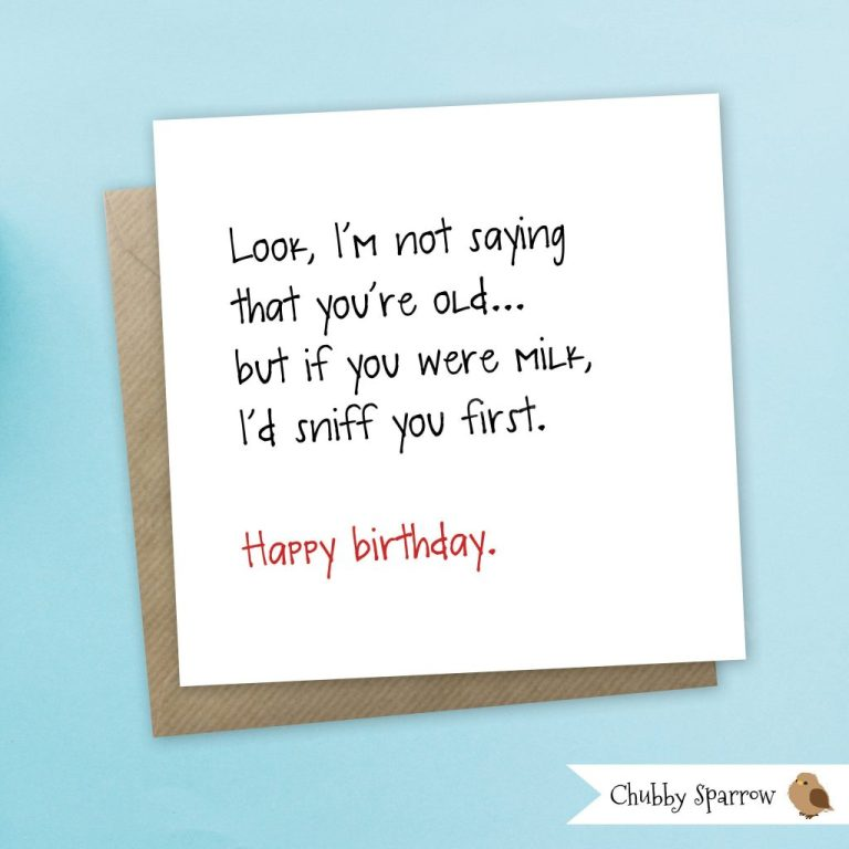 funny birthday card funny greetings card not saying youre