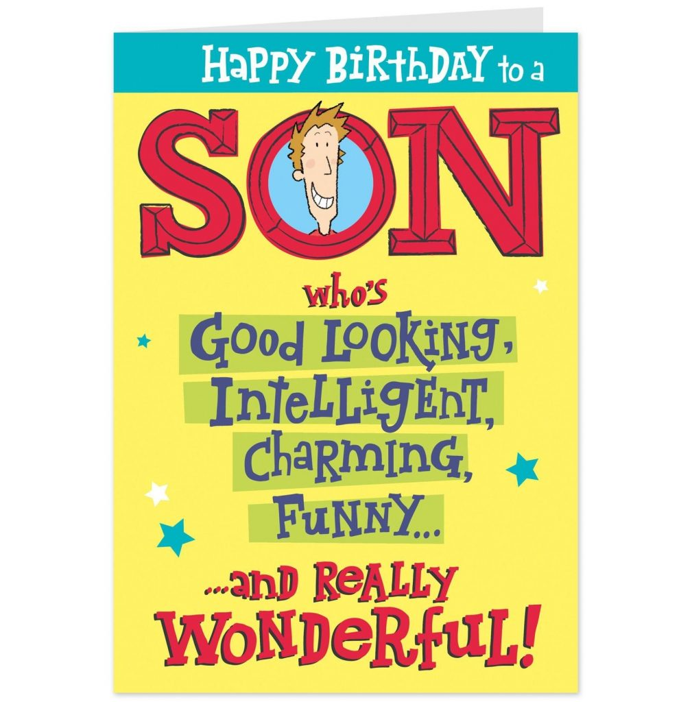 funny e birthday cards for son happy birthday cards
