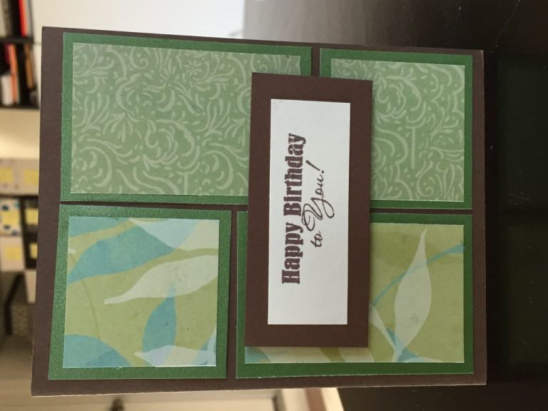green and brown masculine birthday card from cutie patootie studios