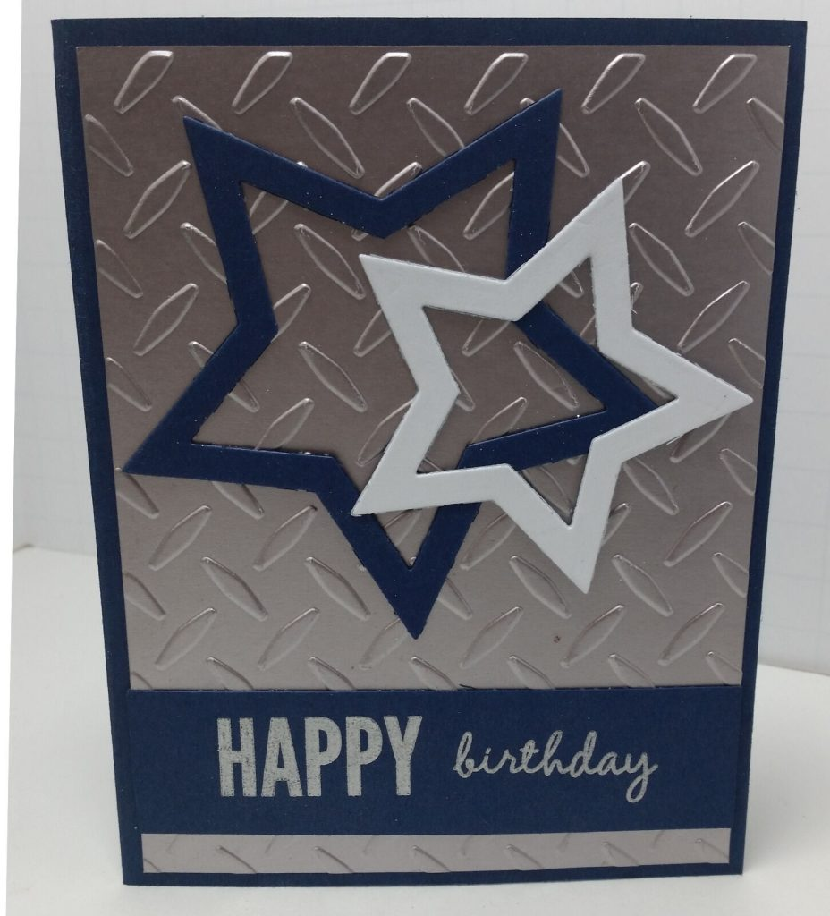 handcrafted greeting card happy birthday masculine