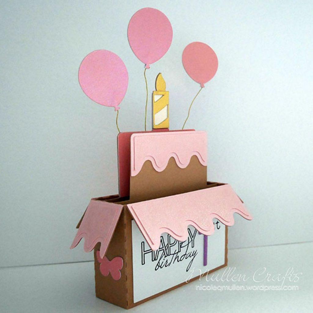 handmade birthday card idea using silhouette birthday box