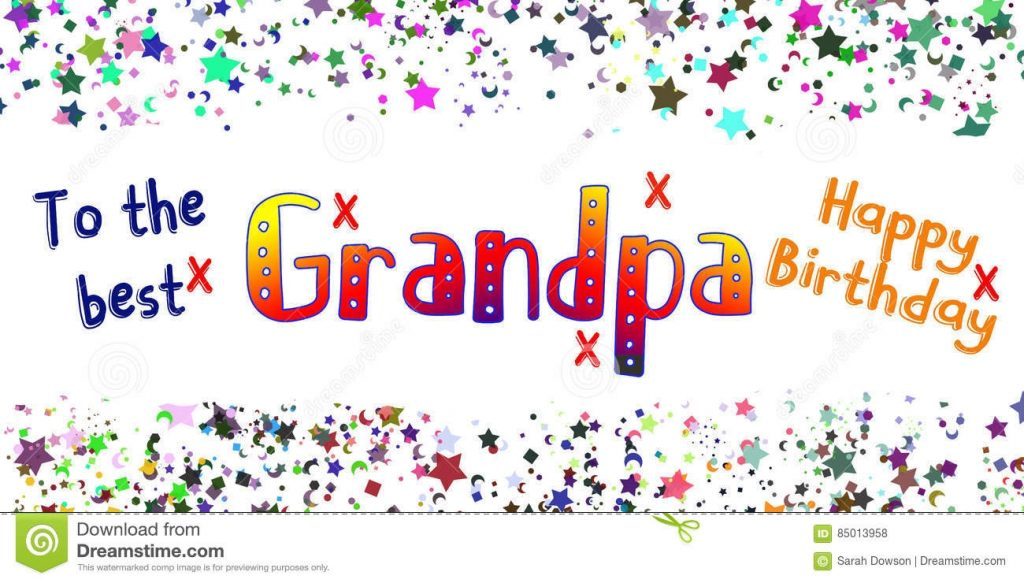 happy birthday grandpa card stock illustration