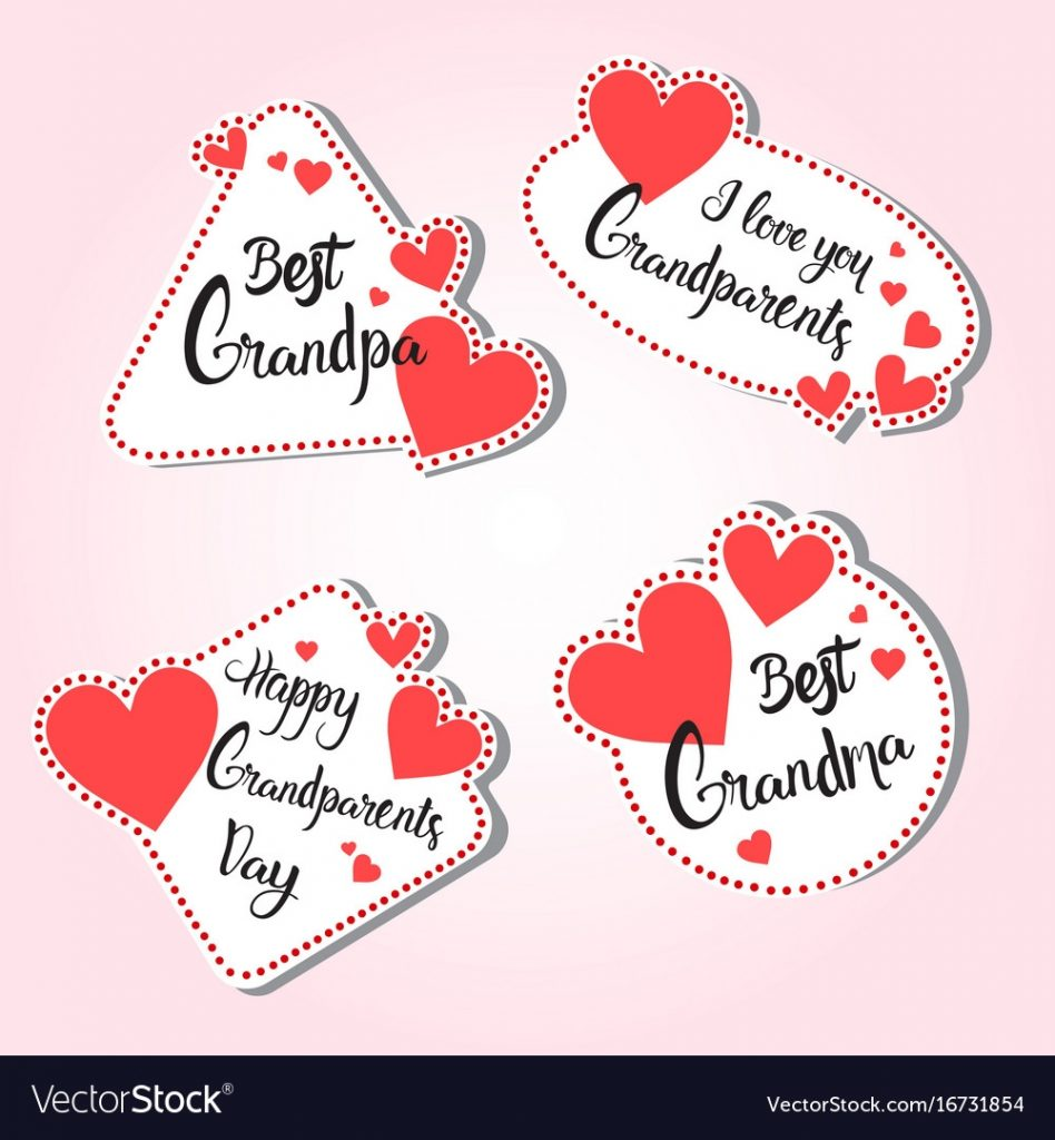 happy grandparents day greeting card set of