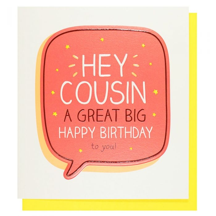 happy jackson hey cousin birthday card