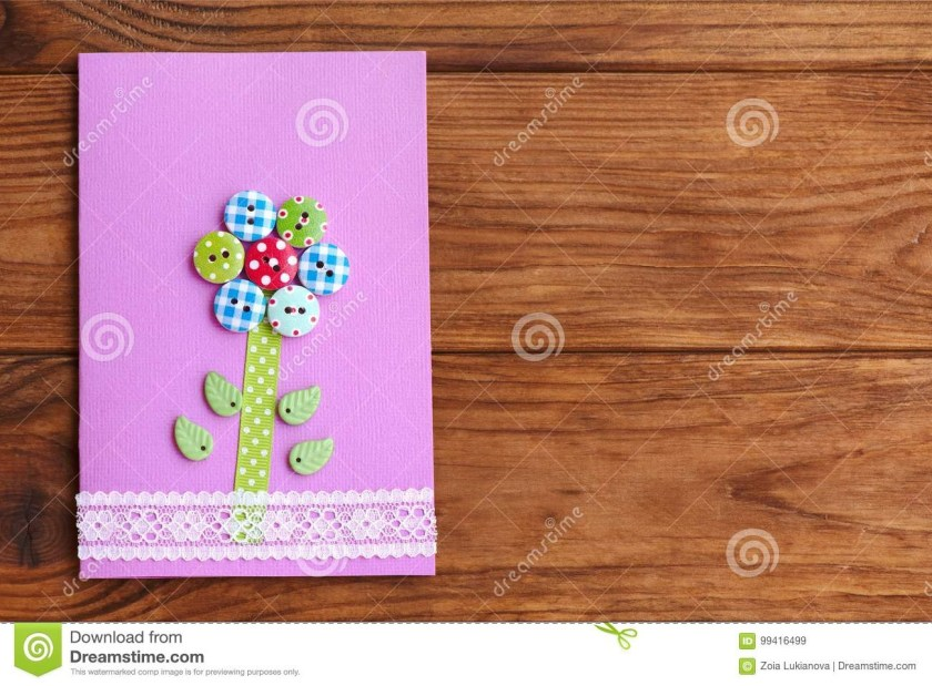 happy mothers day or birthday greeting card with flower on
