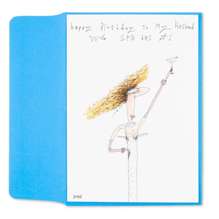 he still has it birthday card for husband