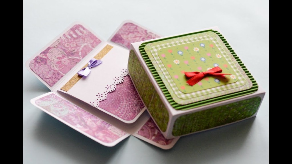 how to make surprise box greeting card birthday step step kartka niespodzianka