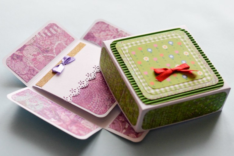 how to make surprise box greeting card birthday step