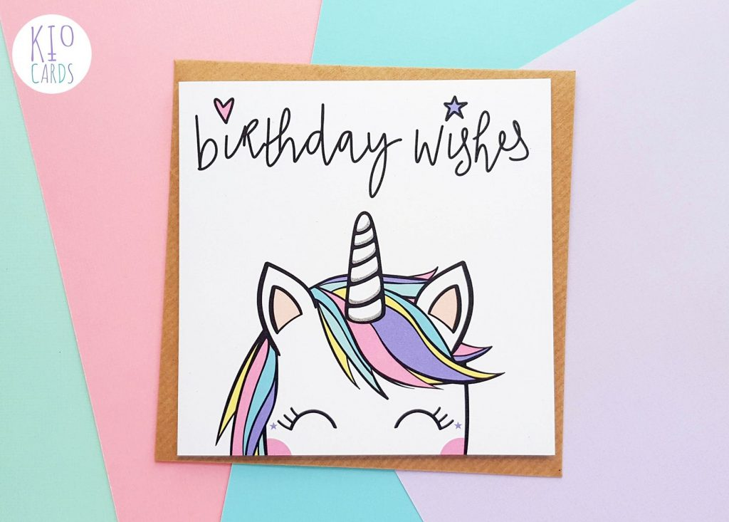 koko unicorn birthday card birthday card drawing unicorn