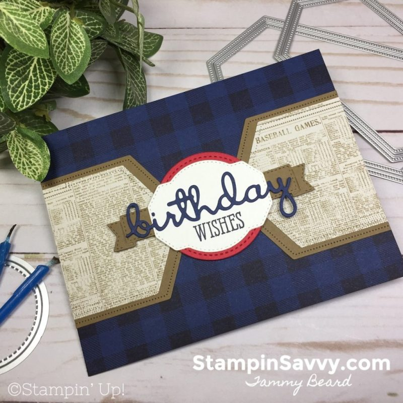 masculine birthday card for baseball lovers stampin savvy
