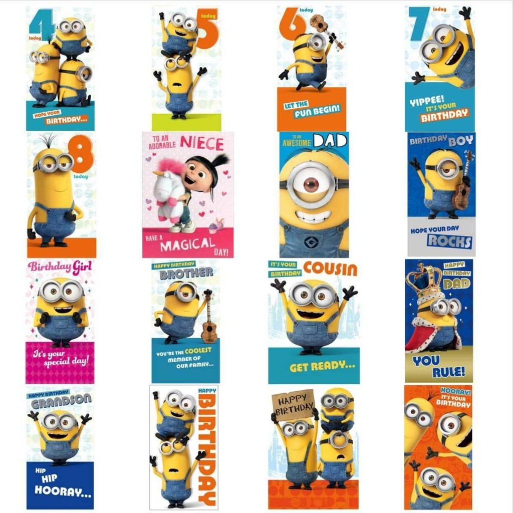 minion birthday card collection 160 picclick uk