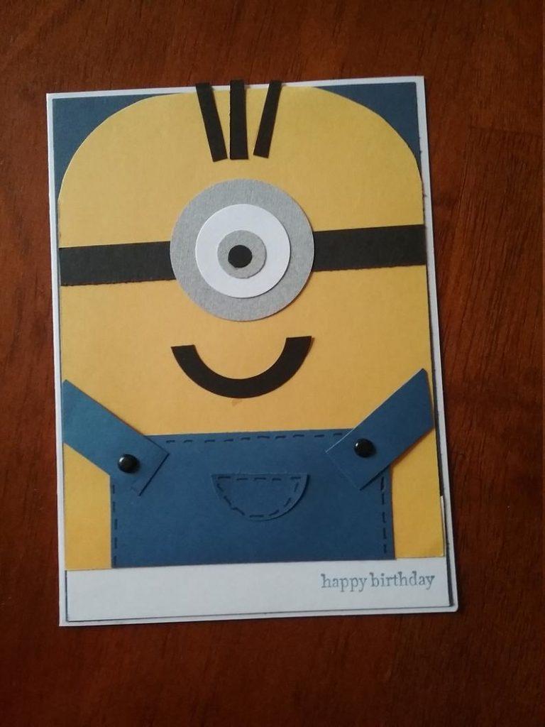 minion inspired handmade birthday card
