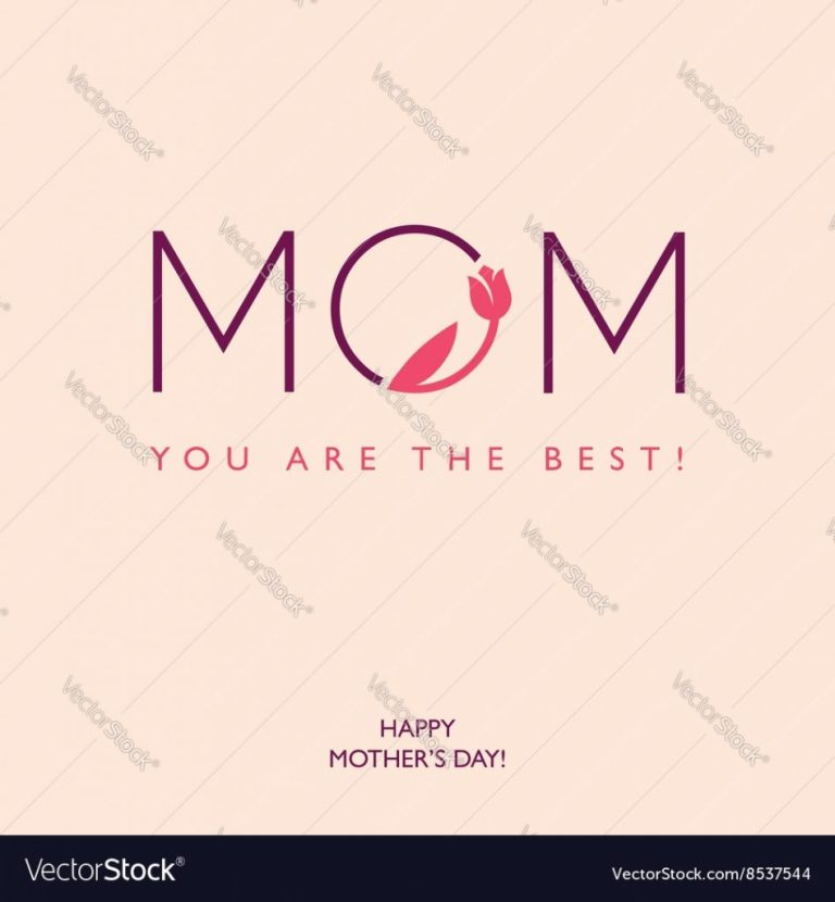 mothers day or birthday greeting card