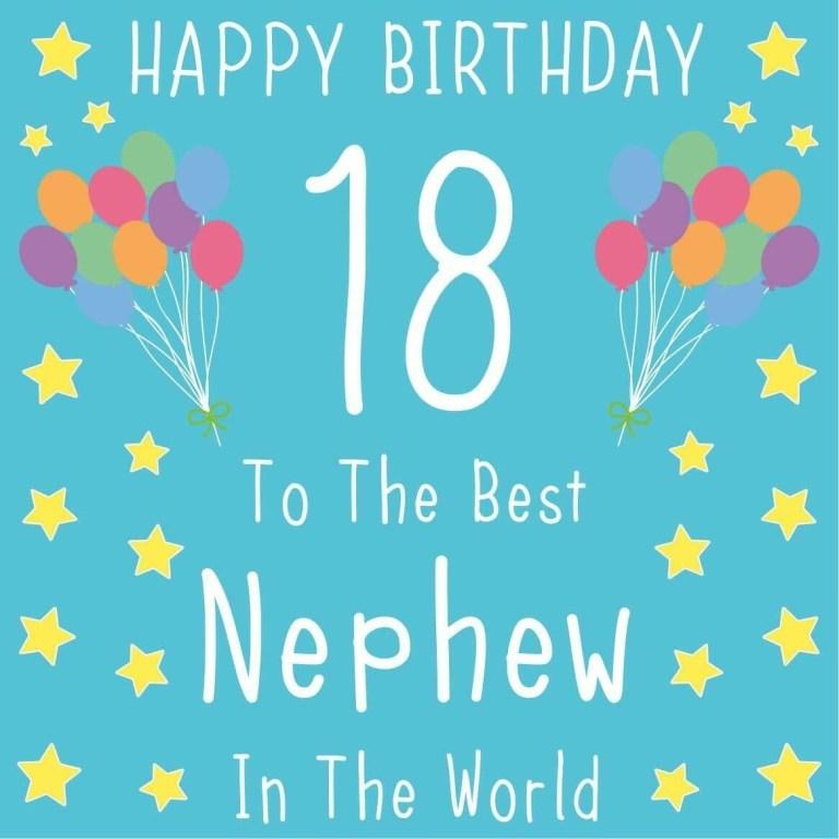 nephew 18th birthday card the best nephew in the world