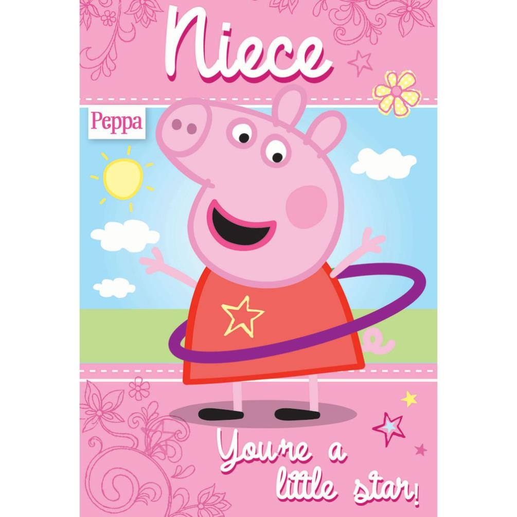 niece peppa pig birthday card