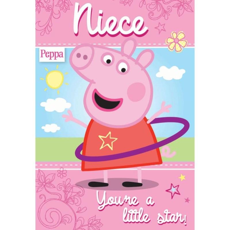 niece peppa pig birthday card