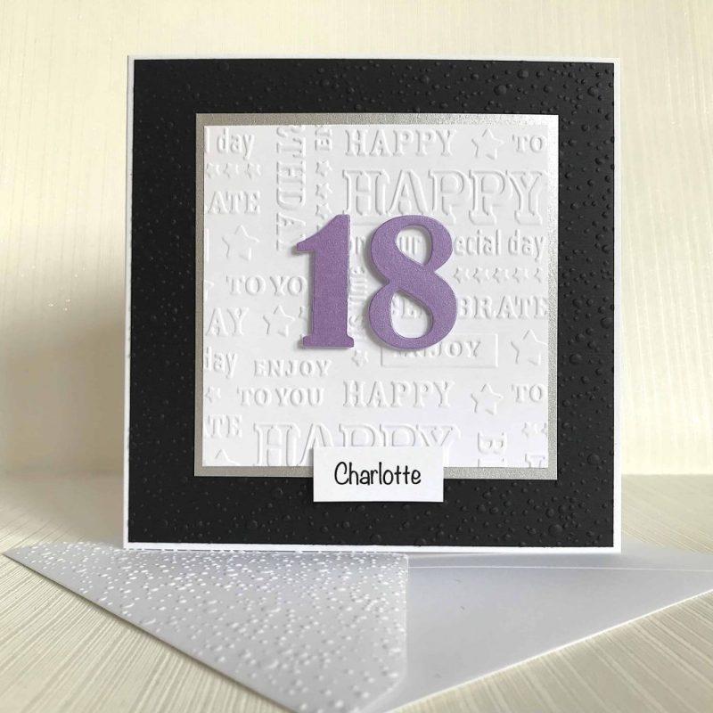 personalised 18th birthday card handmade birthday card