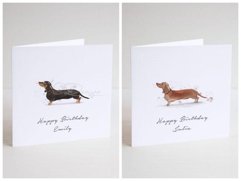 personalised dachshund birthday card personalised birthday card personalised dog card personalised dog birthday card dachshund card