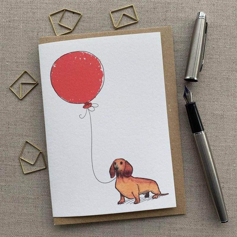 personalised dachshund birthday card