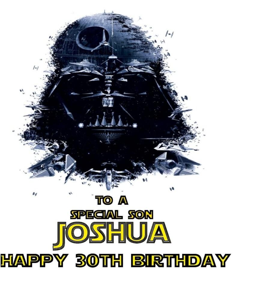 personalised darth vader star wars birthday card brother son husband dad any age