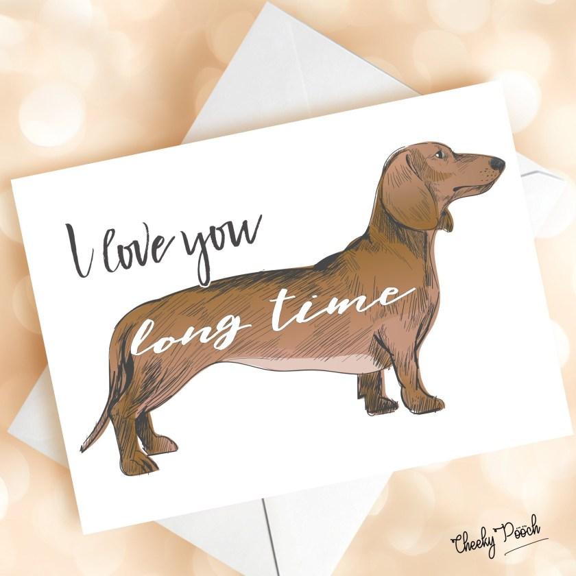 sausage dog valentines card sausage dog birthday card dachshund birthday card funny cards dog anniversary cards dog card