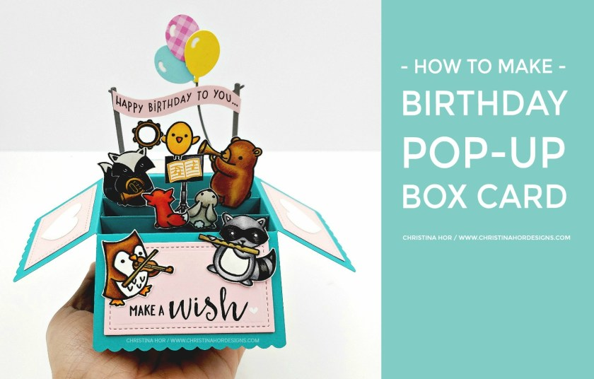 scalloped pop up box birthday card christina hor designs