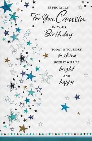simon elvin birthday cards cousin wgc se25553 cousin