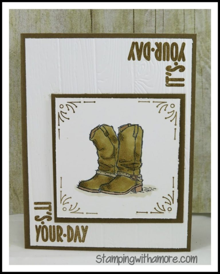 stampingwithamore its your day masculine birthday card