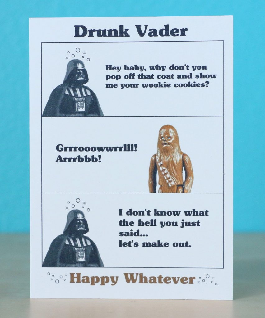star wars darth vader birthday card any occasion anniversary star wars birthday star wars gift star wars present