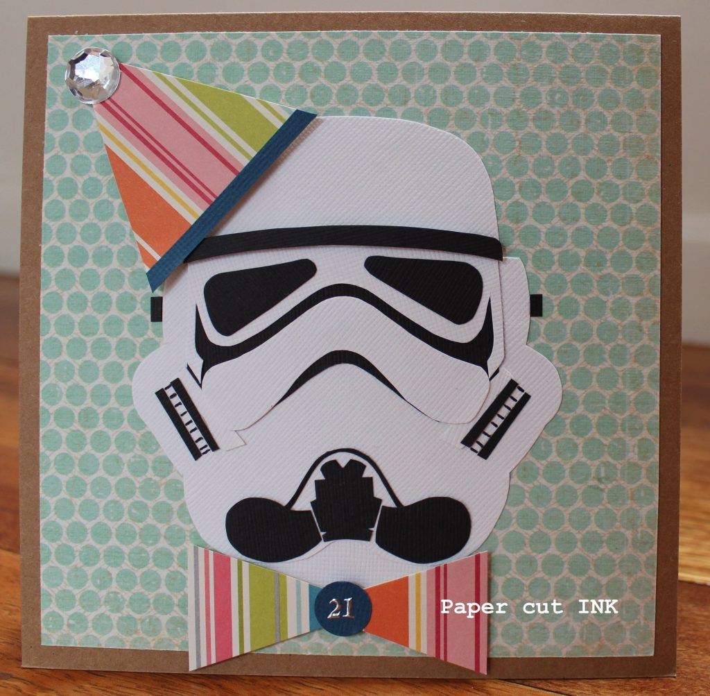 star wars theme storm trooper card using stampin up my