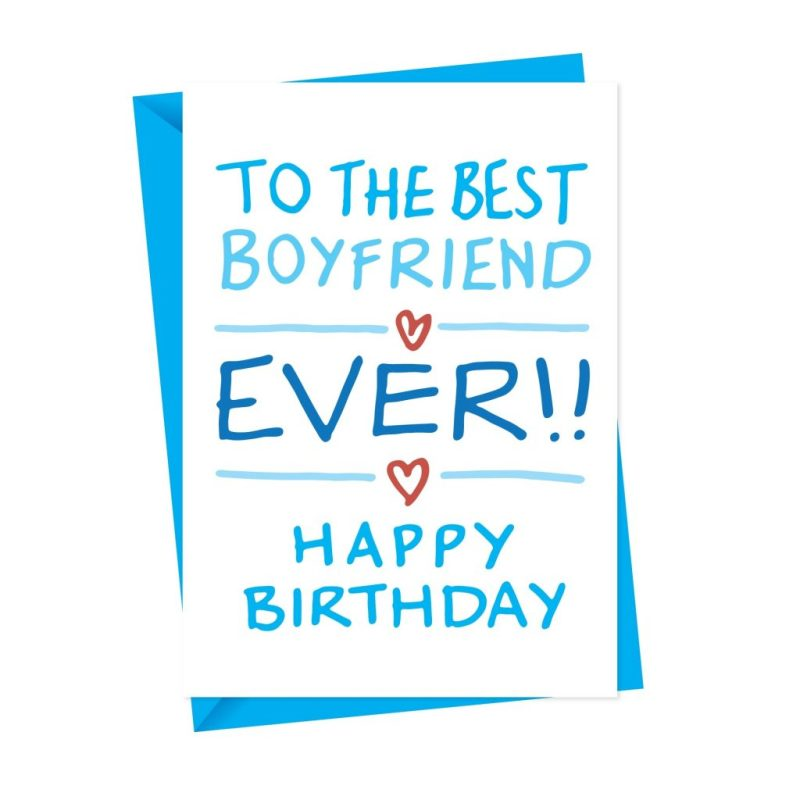 the best boyfriend handdrawn birthday card