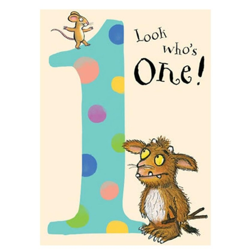 the gruffalo 1st birthday card