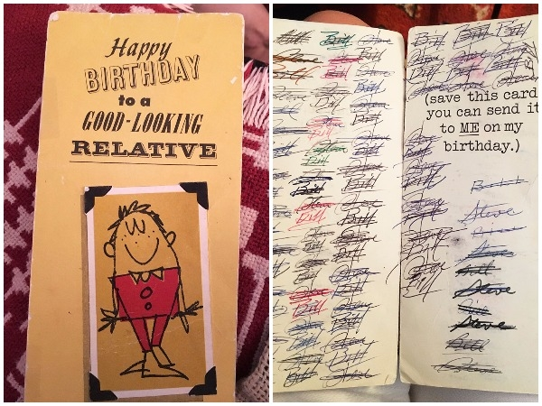 these cousins have exchanged the same birthday card for 47