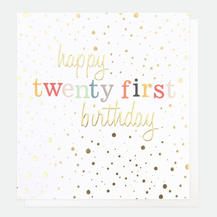 twenty first birthday card