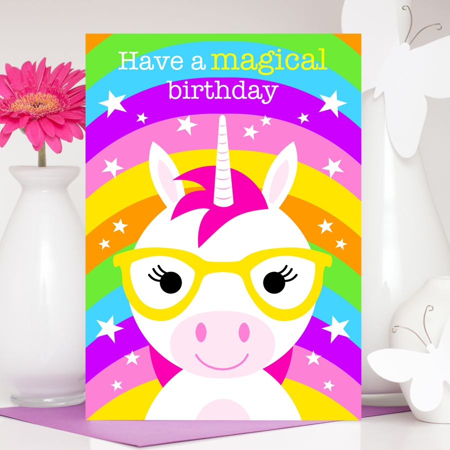 unicorn birthday card ursula the unicorn
